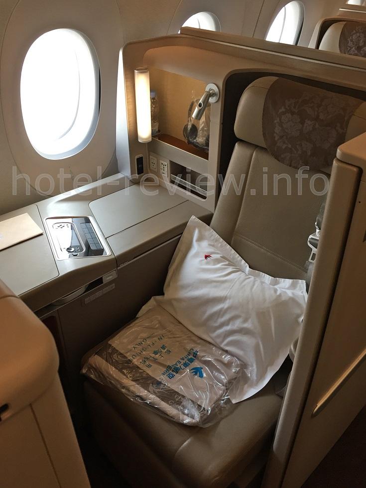 中国東方航空ビジネスクラス座席