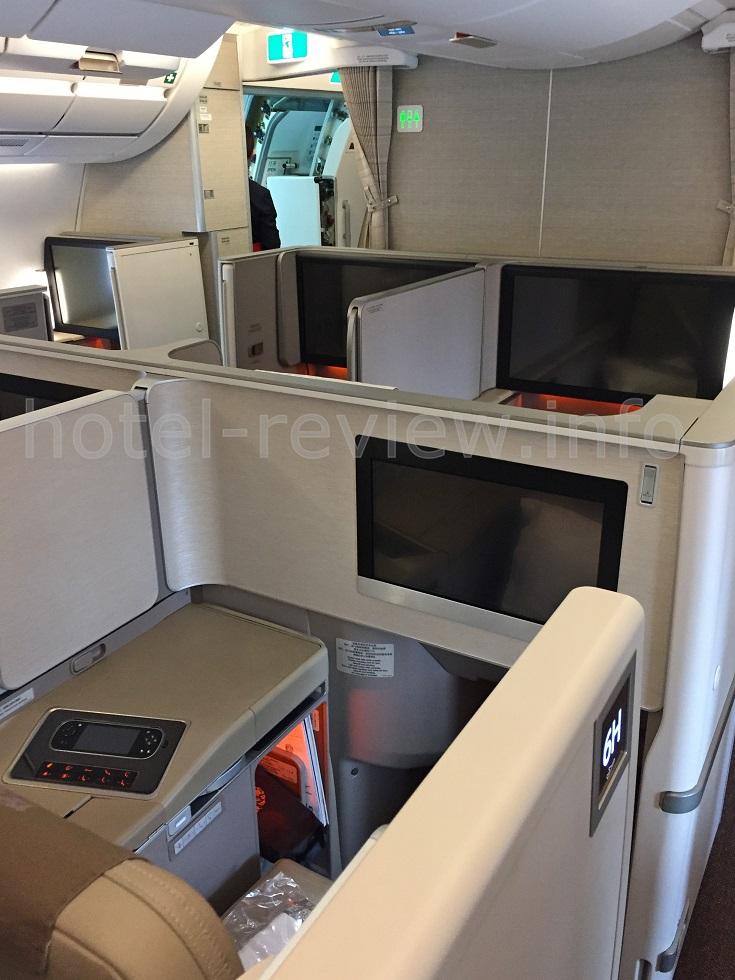 中国東方航空ファーストクラス座席