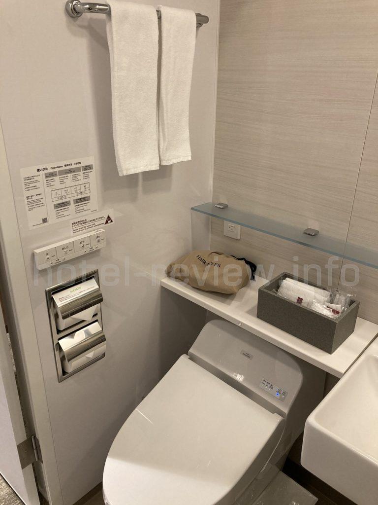 三井ガーデンホテル大手町のトイレ