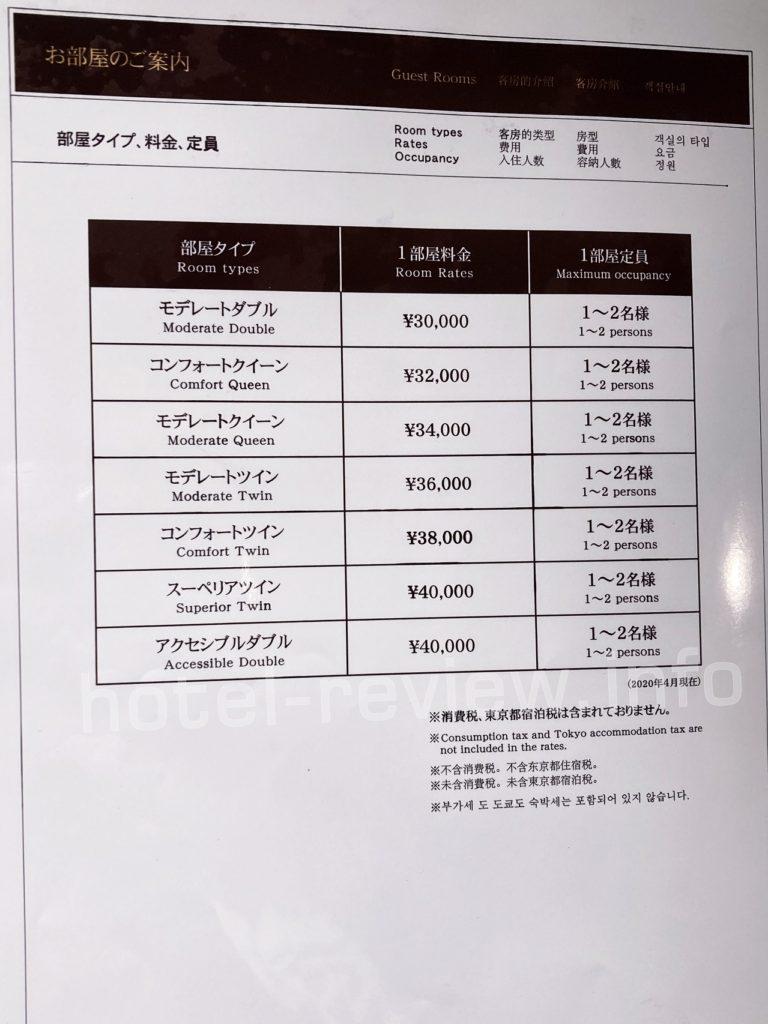 三井ガーデンホテル大手町の料金