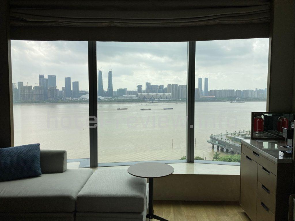 マリオット杭州部屋からの眺め